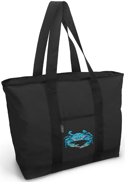 BLUE CRAB Tote Bag Black Deluxe