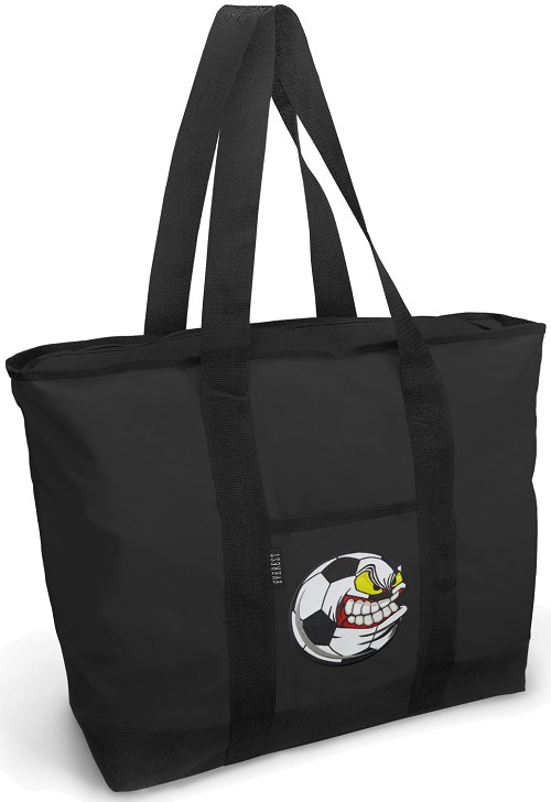 Soccer Fan Tote Bag ZIPPERED TOP