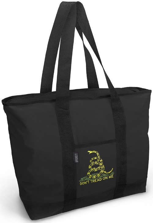 Don't Tread on Me Tote Bag Black Deluxe
