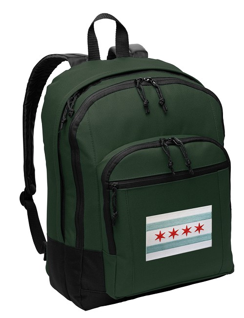 Chicago Flag Backpack Green