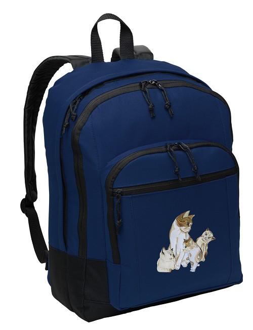 Cute Cats Backpack Navy