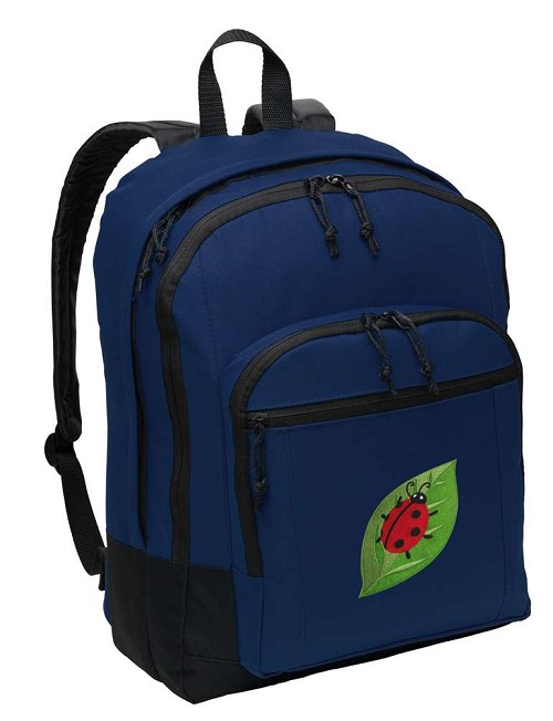 Ladybug Backpack Navy Blue