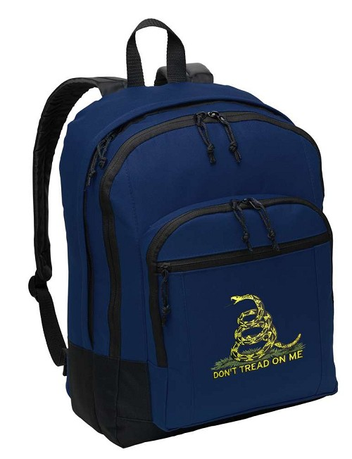 Don't Tread on Me Backpack Navy Blue
