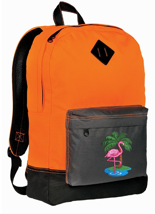 Flamingo Neon Orange Backpack