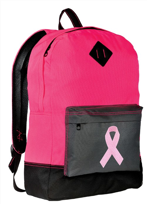 Pink Ribbon Neon Pink Backpack