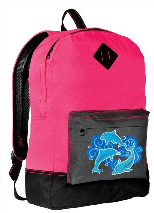 DOLPHINS Neon Pink Backpack