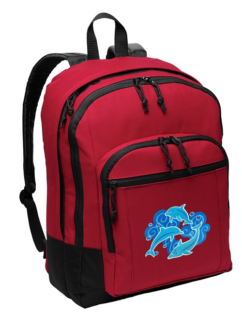 DOLPHINS Backpack Red
