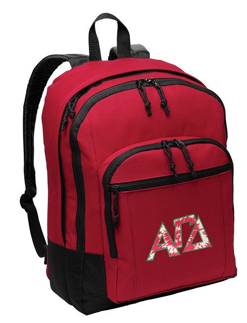 Alpha Gamma Delta AGD Backpack Red