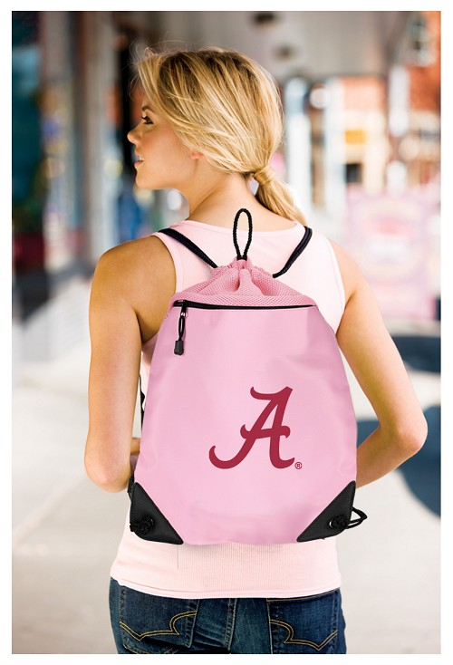 University of Alabama Pink Drawstring Bag Backpack