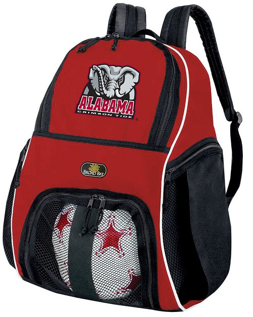 Alabama Soccer Backpack Bag Red