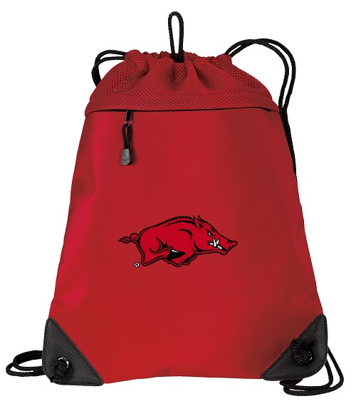 University of Arkansas Razorbacks Drawstring Backpack Mesh & Microfiber