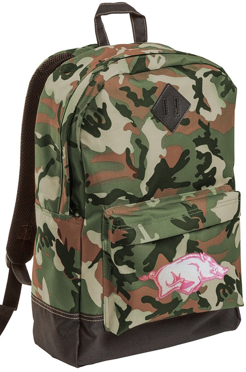 Arkansas Razorbacks Ladies Girls Camo Backpacks