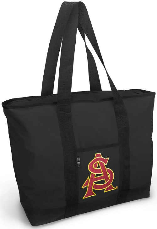 ASU Logo Tote Bag Black Deluxe