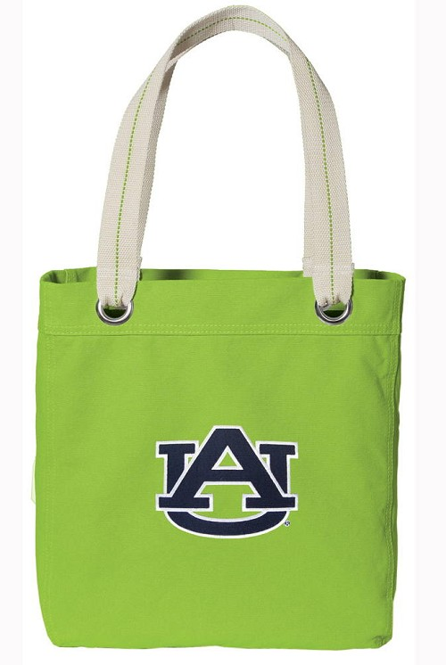 Auburn Tote Bag RICH COTTON CANVAS Green