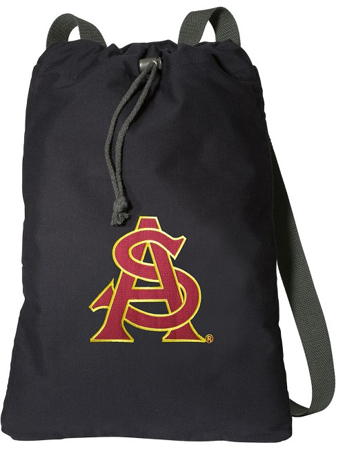 ASU Logo Cotton Drawstring Bag