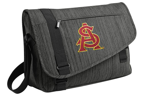 ASU Messenger Laptop Bag Stylish Charcoal