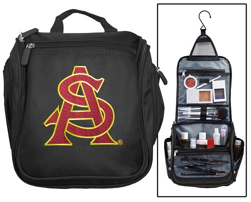 ASU Logo Cosmetic Bag or Mens Shaving Kit - Travel Bag