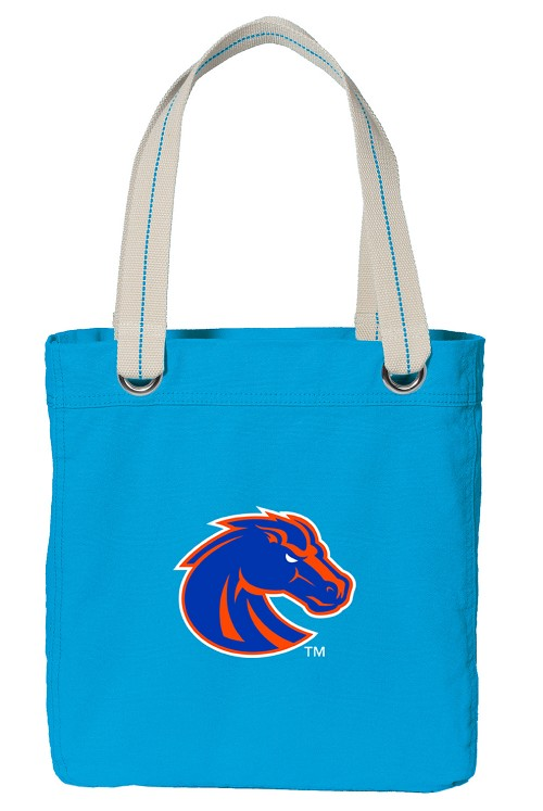 Boise State Tote Bag RICH COTTON CANVAS Turquoise
