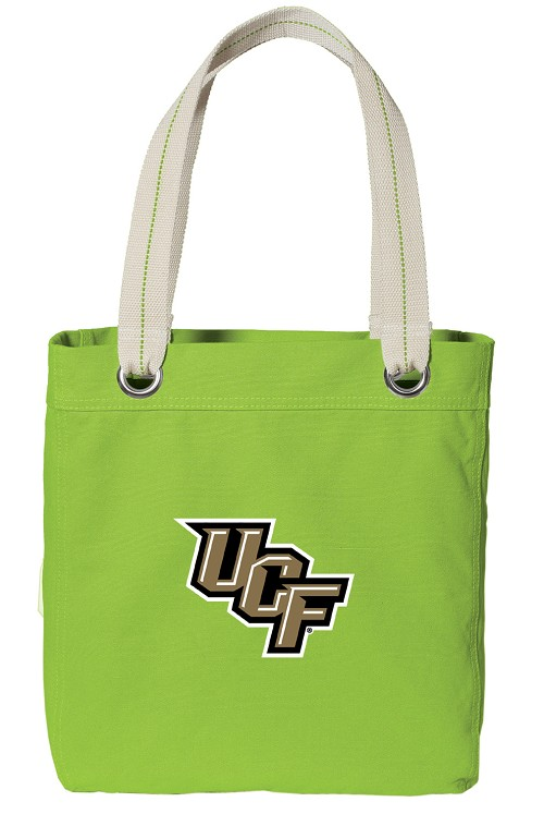 UCF Knights NEON Green Cotton Tote Bag