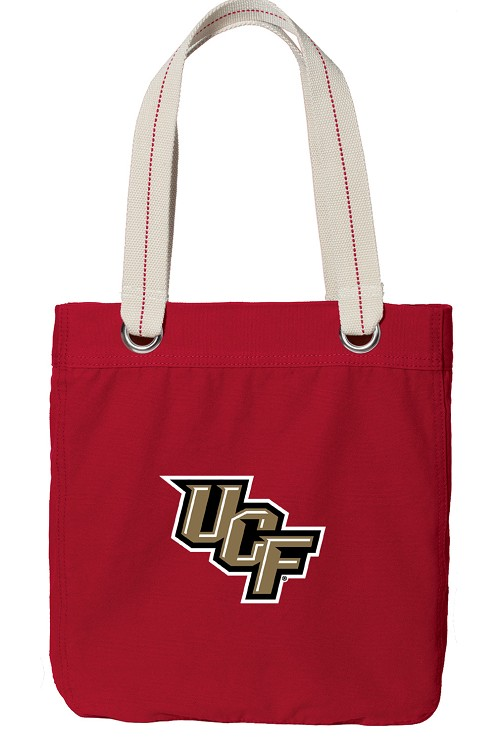 UCF Knights Rich RED Cotton Tote Bag