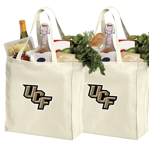 UCF Cotton Shopping Grocery Bags 2 PC SET