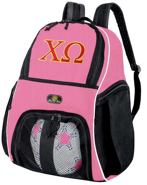 Girls Chi Omega Soccer Backpack or Chi O Volleyball Bag