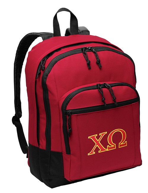 Chi O Backpack Red