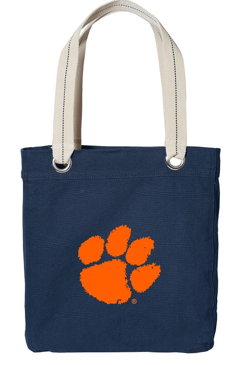 Clemson NAVY Cotton Tote Bag