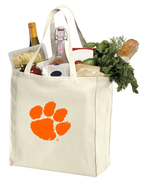 Clemson Tigers Shopping Bags Canvas