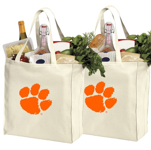 Clemson University Shopping Bags Clemson Tigers Grocery Bags 2 PC SET