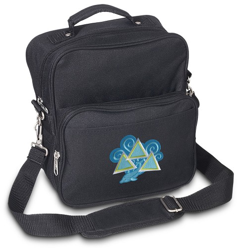 Tri Delt Small Utility Messenger Bag or Travel Bag