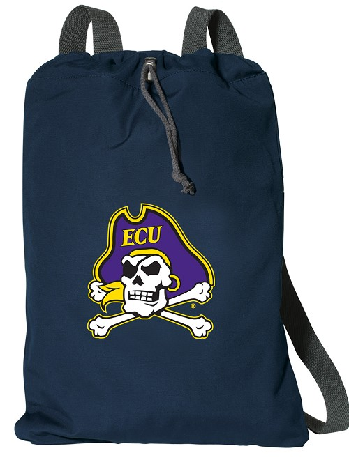 ECU Pirates Cotton Backpack Bags