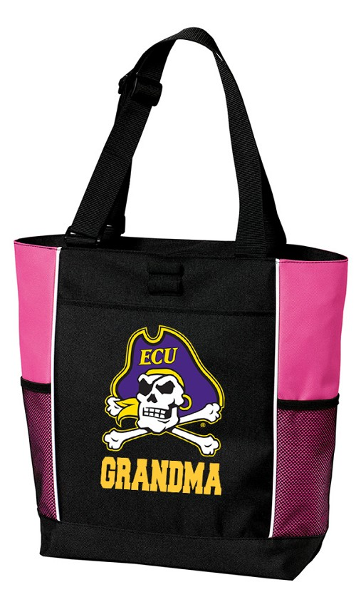 East Carolina Grandma Tote Bag Pink