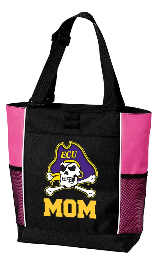 East Carolina Mom Tote Bag Pink