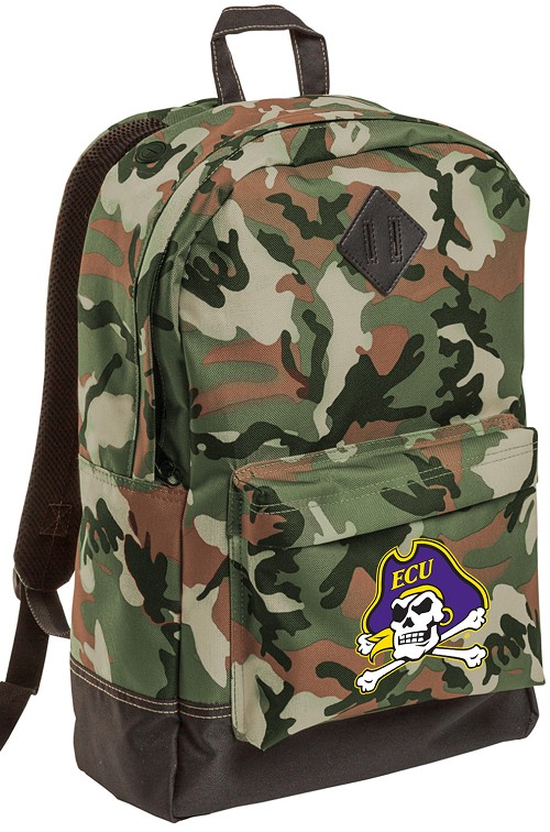 ECU Pirates Camo Backpack