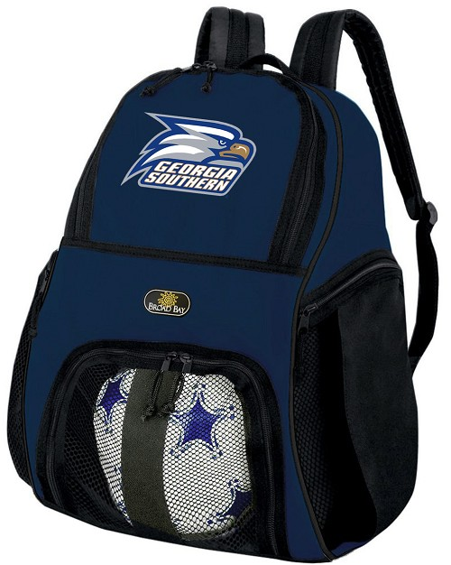 Georgia Southern Soccer Ball Backpack or Georgia Southern Eagles Volleyball Practice Gear Bag Navy