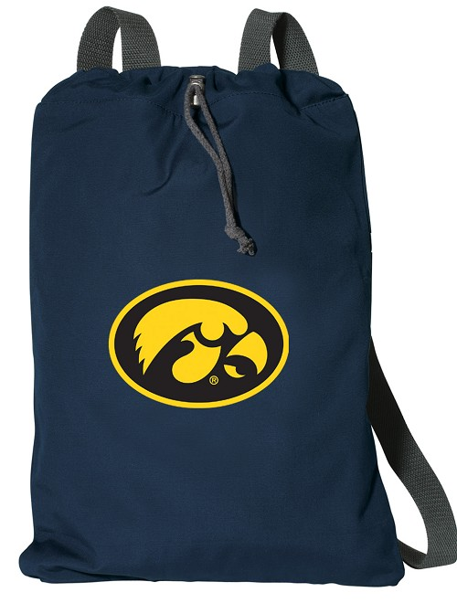 University of Iowa Hawkeyes Cotton Drawstring Bags