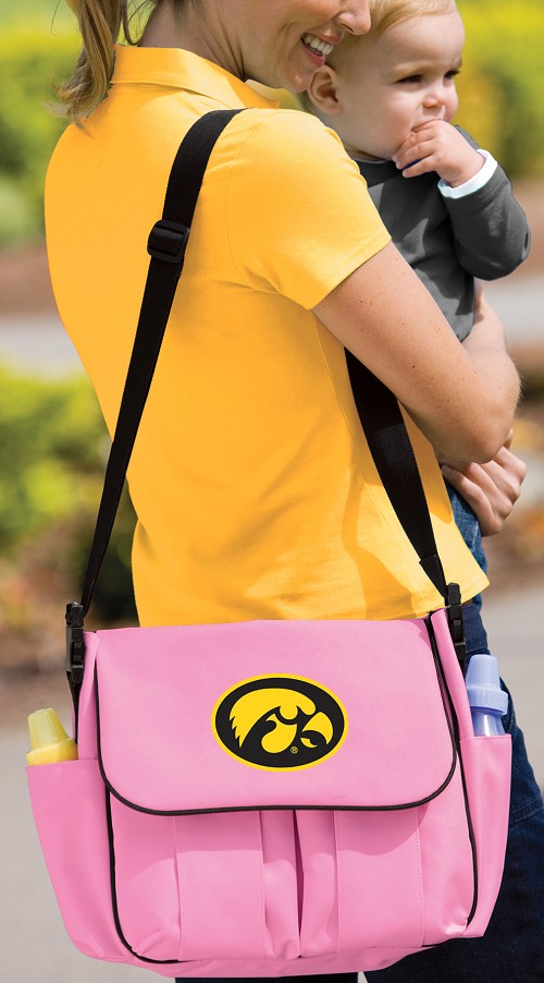 University of Iowa Hawkeyes Diaper Bag Official NCAA College Logo Deluxe