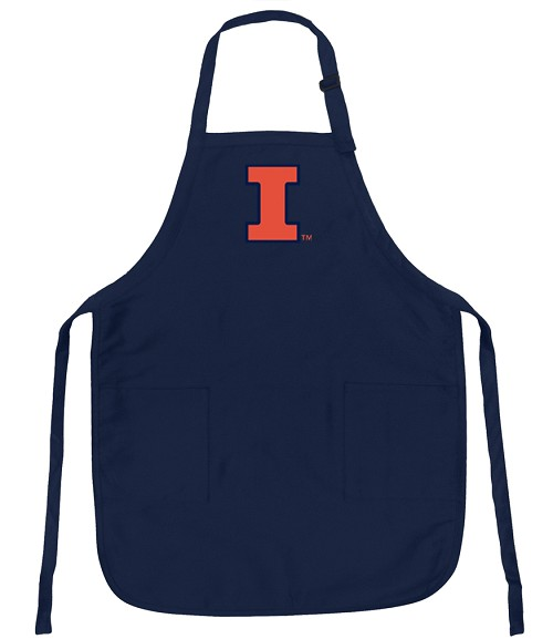 University of Illinois Illini Apron College Logo Blue
