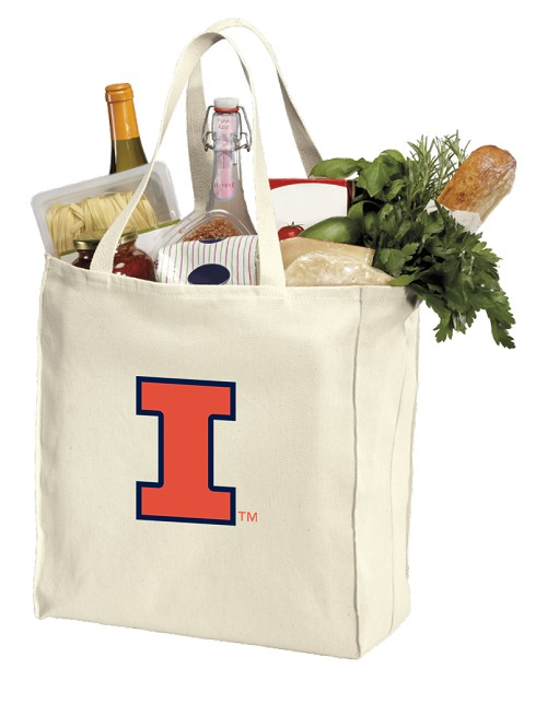 University of Illinois Canvas Shopping Bag