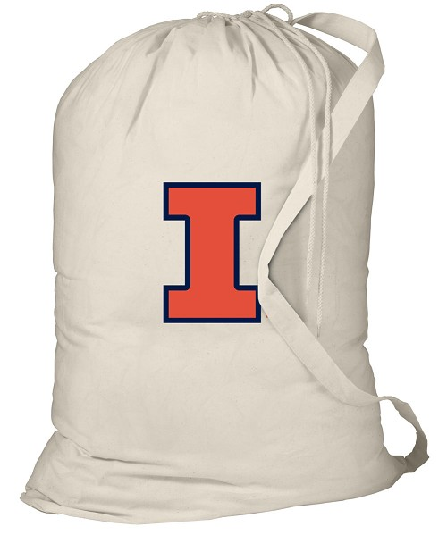 University of Illinois Laundry Bag Natural