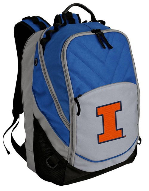 University of Illinois Backpack w/ Laptop Section