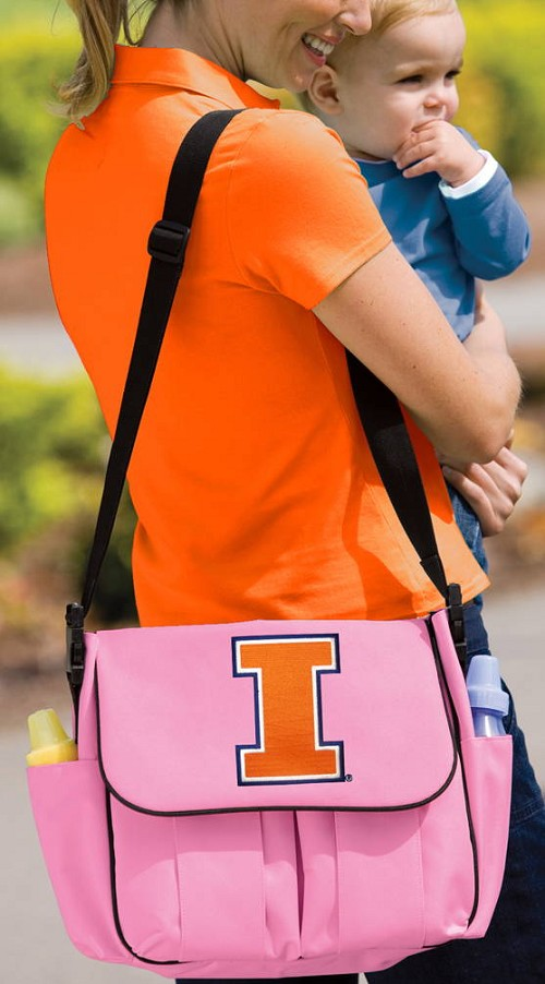 University of Illinois Illini Diaper Bag Official NCAA College Logo Deluxe