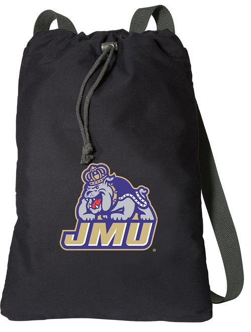 JMU Cotton Drawstring Bag