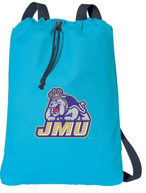 James Madison Cotton Drawstring Bags Turquoise