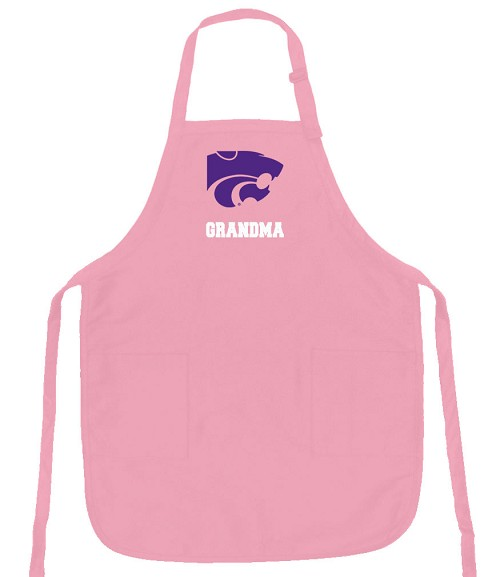 Deluxe Kansas State Grandma Apron Pink - MADE in the USA!