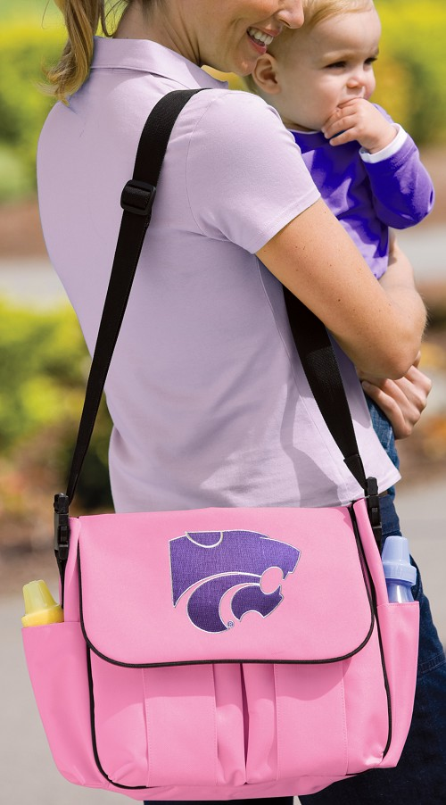 Kansas State University Diaper Bag Official NCAA College Logo Deluxe