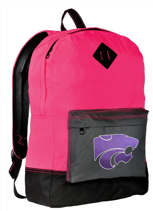 Kansas State University Neon PINK Backpack