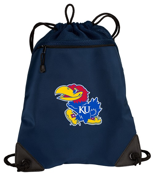 University of Kansas Drawstring Bag Backpack