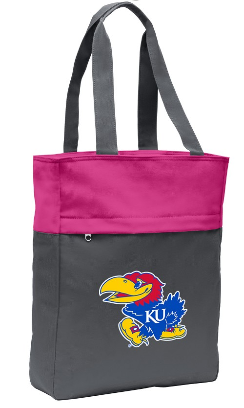 University of Kansas Tote Bag Everyday Carryall Pink
